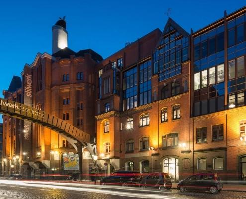 Stilwerk Hamburg bei Nacht