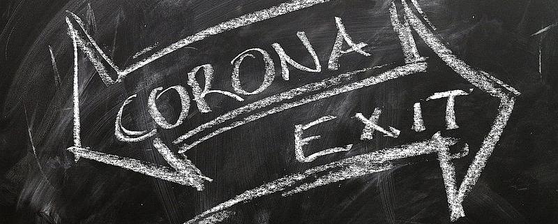 Corona Exit Logo