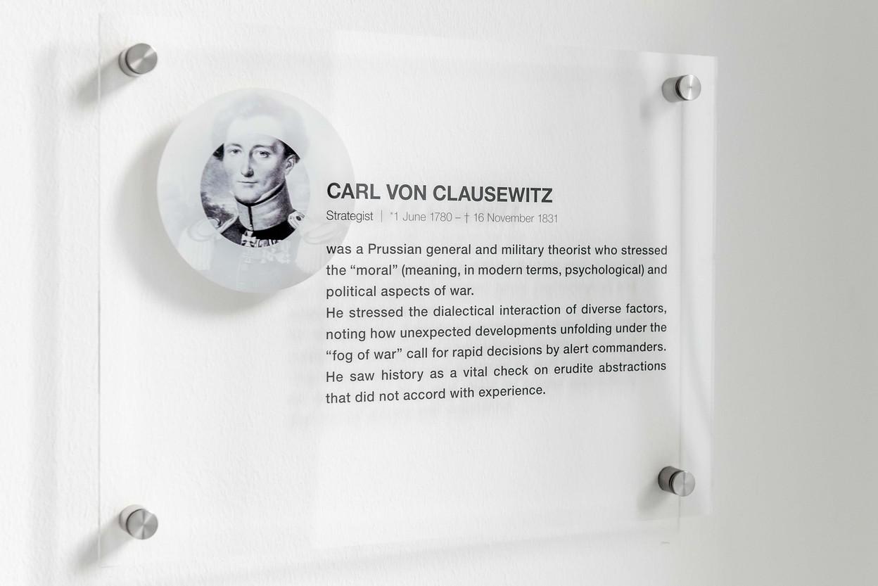 Schild Carl von Clausewitz Besprechungszimmer