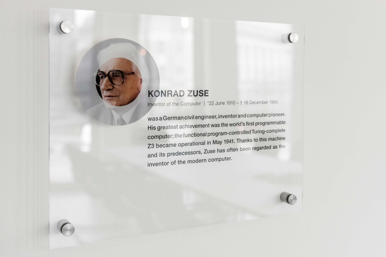 Konrad Zuse Besprechungsraum Schild