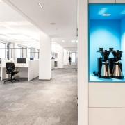 SDA Open Space Office Blick mit Kaffemaschinen