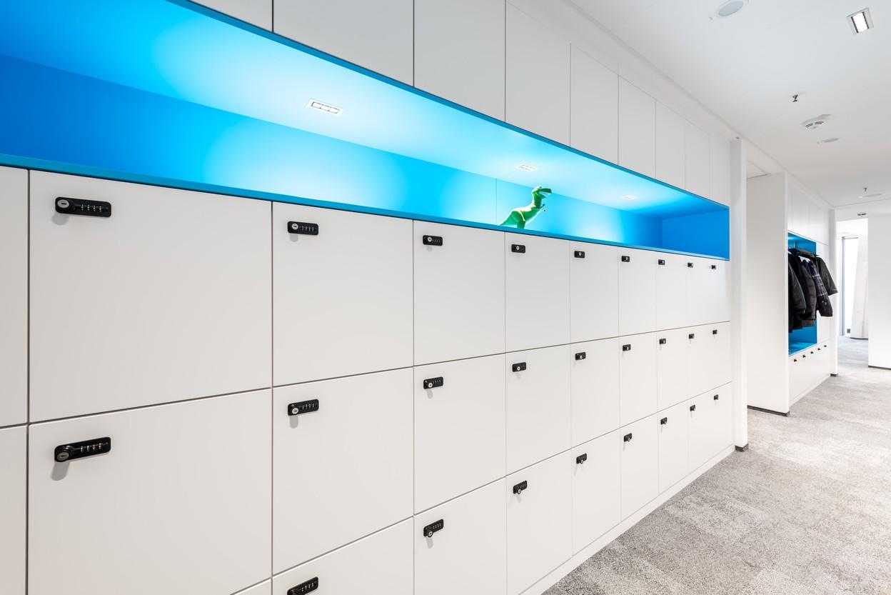 SDA Locker-Wand für Mitarbeiter
