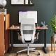 Homeoffice Beispiel mit Steelcase Gesture Drehstuhl und höhenverstellbarer Schreibtisch
