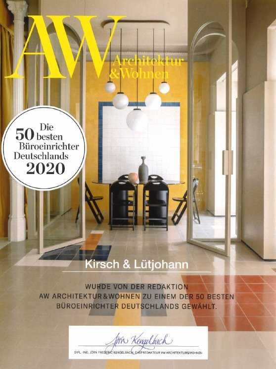 Auszeichnung Kirsch Lütjohann Top 50 Büroeinrichter