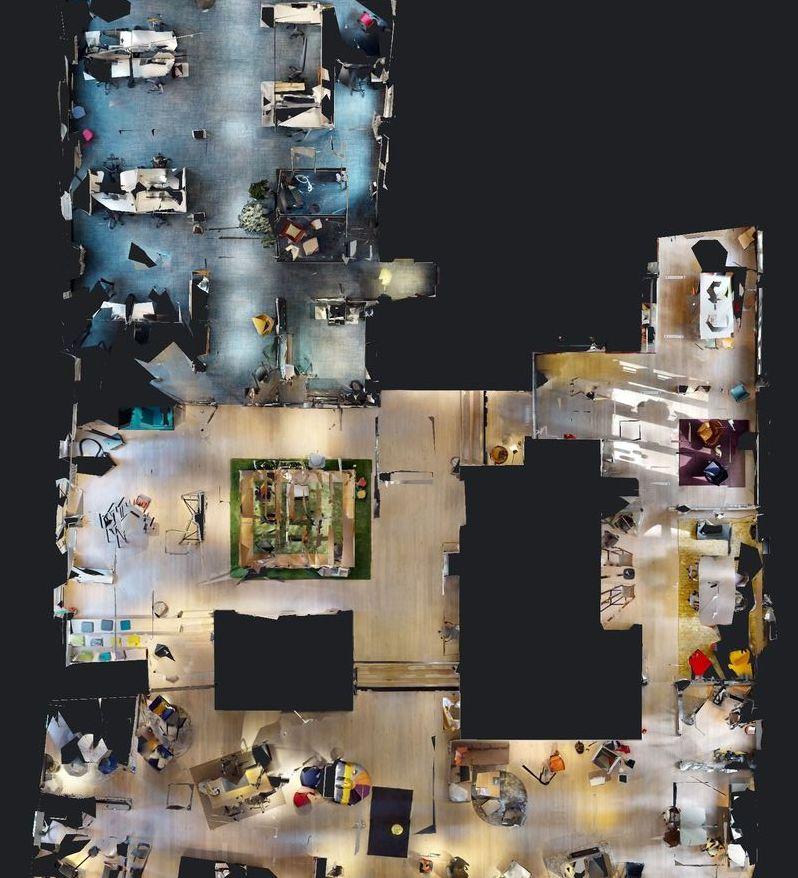 Kirsch & Lütjohann Worklab als virtuelles Modell in der Vogelperspektive