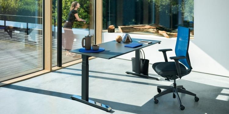 Homeoffice mit Sedus Temptation Schreibtisch und Black-Dot Bürostuhl