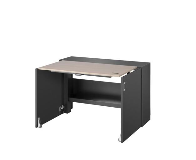 Ausklappbarer Homeoffice Schreibtisch von VEPA Homefit - ausgeklappter Zustand