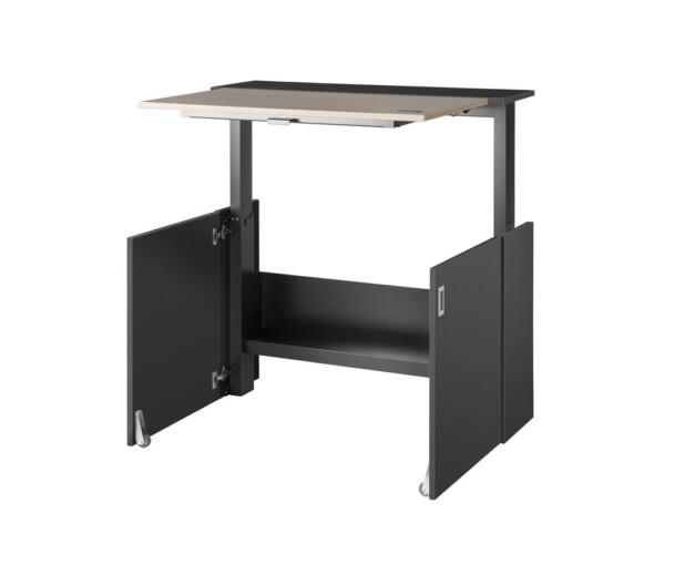 Ausklappbarer Homeoffice Schreibtisch von VEPA Homefit - hochgefahrener Zustand