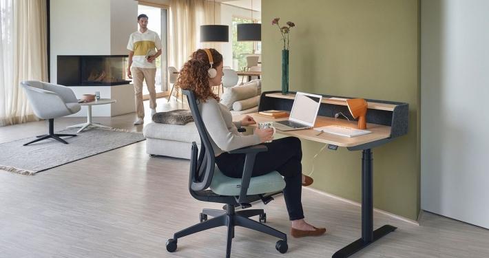 Sedus se-desk home elektronisch höhenverstellbarer Schreibtisch für das Homeoffice
